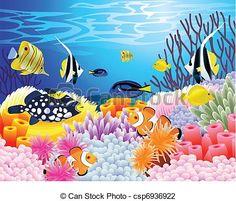 zee, leven, achtergrond - csp6936922