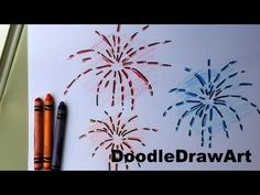 How To Draw Fireworks - Easy Drawing Lesson for kids.EASY! Guy Fawkes Day November 5 - YouTube