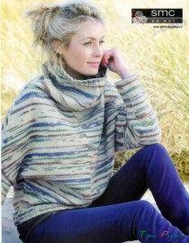 Модный вязаный свитер