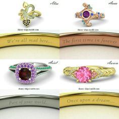 Engagement Rings Inspired By Disney Princesses RingsCladdagh