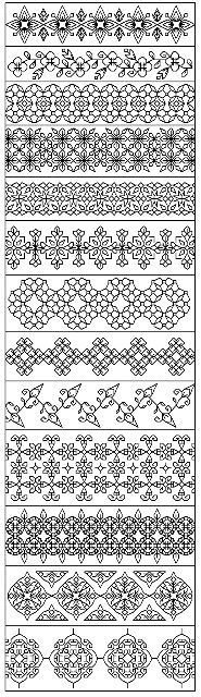 click here to view larger image of Blackwork Borders (chart)