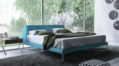 Astrid Bed - Blue | Zuri Furniture