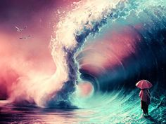 cross over together by aquasixio - Surreal Digital Art by Cyril Rolando <3 <3