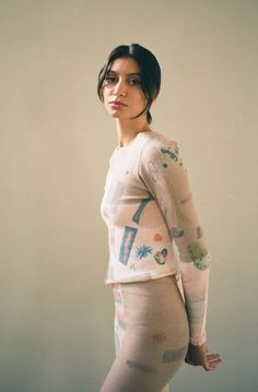 ECKHAUS LATTA Filati Top | Garmentory Eckhaus Latta, Website Features, Knit Fashion, Online Boutiques, How To Introduce Yourself, Digital Prints, Knitwear, How To Draw Hands, Printed Matter