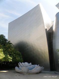 2015 Disney Hall, siège de l'orchestre philharmonique de Los Angeles, jardin suspendu.