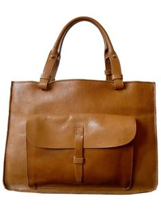 Structured Tote in Florentine Vacchetta  Leather Camel by IMPERIO jp