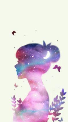 Enakei Wallpaper Keren, Tumblr Wallpaper, Girl Wallpaper, Iphone Wallpaper, Future Wallpaper, Girl Cartoon Characters, Tumblr Art, Fairy Pictures, Cute Cartoon Wallpapers