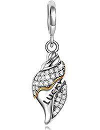Ninaqueen 925 Sterling Silver Conch Girl Lucky Dangle Charms Fit Pandora Bracelet  ASIN:  B00X146JJI MODEL# CSG05345BW