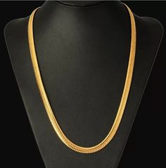 High Quality sales in Europe and America Snake bone chain gold-plated items men's copper necklace jewelry - QJ jewelry Mens Gold Chain Necklace, Mens Gold Bracelets, Mens Gold Jewelry, Gold Jewelry Simple, Copper Necklace, Gold Temple Jewellery, Gold Jewellery Design, Gold Chain Design, Gold Earrings Designs