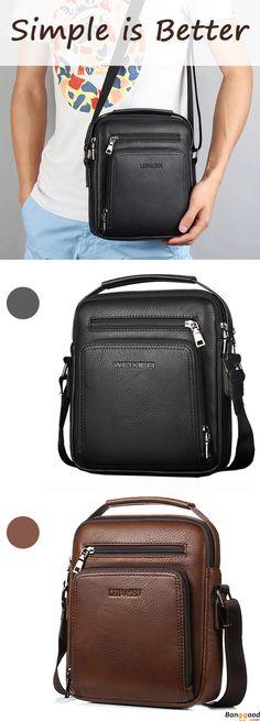 Simple is Better. You gonna love this vintage waterproof crossbody bag.