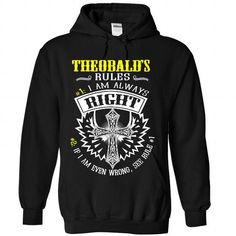18 THEOBALD Rules - #gifts for boyfriend #monogrammed gift. ORDER HERE => https://www.sunfrog.com/States/18-THEOBALD-Rules-6293-Black-Hoodie.html?68278