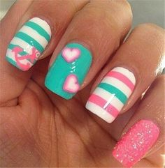 20 Cute and Simple Nail Designs for Beginners | http://www.meetthebestyou.com/20-cute-and-simple-nail-designs-for-beginners/