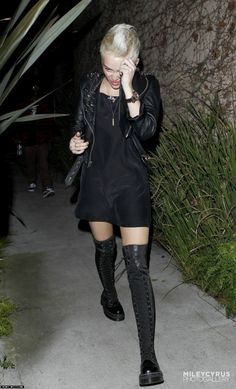 5bd5740f281 Miley Cyrus Leaving a Recording Studio in Los Angeles March 6