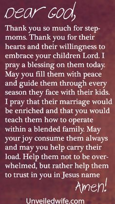 Prayer Of The Day – Stepmoms