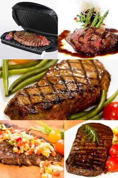 Easy and delicious steak recipes for your George Foreman Grill.
