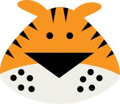 Tiger Face SVG files for cutting machines tiger svg cut file tiger svgs cute files for scrapbooking