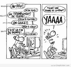Une petite image drôle spéciale geek :) Et vous quand allez-vous paniquer ?