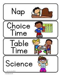 Visual Schedule Cards by Lovely Commotion Preschool Resources Preschool Classroom Schedule, Daycare Schedule, Classroom Word Wall, Classroom Routines, Preschool Special Education, Kindergarten Classroom, Red Classroom, Class Schedule, Classroom Crafts