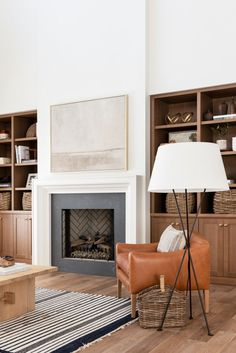 Fireplace Built Ins, Home Fireplace, Fireplace Design, Simple Fireplace, Fireplace Ideas, Fireplace Seating, Stucco Fireplace, Family Room Fireplace, Bedroom Fireplace