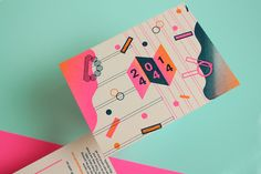 Wedding Invitation for D & R Graphic Design & IllustrationRisographic Print // 2 colours + 1 fluorescent // Officio 240grs Ivory