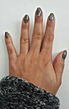 I've done this with only Essie nail polish, nothing gellish was used. Essie is truly amazing! (please don't mind my bruised middle finger)