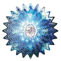 Iron Stop 10 in. Aurora Splash Crystal Wind Spinner-D7532-10 at The Home Depot