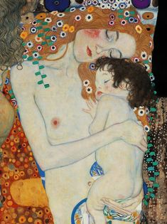 Gustav Klimt - Mother and child (Detail: The Three Ages of Woman) 1905 Gustav Klimt, Klimt Art, Art Et Nature, Art Nouveau, Paintings I Love, Art For Art Sake, Mother And Child, Amazing Art, Art Photography