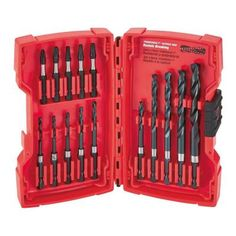 Milwaukee SHOCKWAVE Drilling and Driving Bit Set (15-Piece)-48-89-4449 - The Home Depot   $15.90