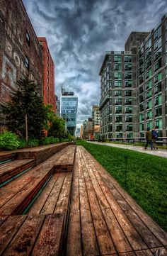 Highline, New York City. I was just here, amazing photography opportunities! You can walk above the traffic, weaving in and out of some of Chelsea's coolest art galleries.