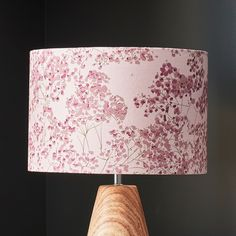 Floral pink lampshade from my Arla collection. Perfect for lounges, bedrooms and any home interior project Floral Lampshade, Lounges, Lampshades, Lighting Design, Floral Design, Bedrooms, Cushions, Wallpaper, Interior