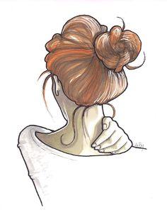 Rabiscos em fotos #fromtheback #hairup