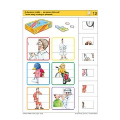 Logico Primo feladatkártyák - Beteg vagyok - . kép Sequencing Cards, Speech Therapy, Montessori, Worksheets, Album, Teaching, Creative, Crafts, Fine Motor