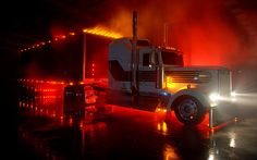 Kenworth light show!
