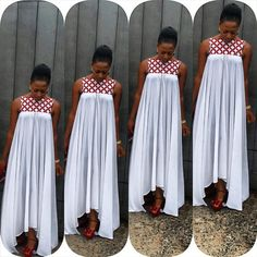 At the request of some readers, La Blackeuse has selected 05 models of dresses for pregnant women. African Dresses For Women, African Print Dresses, African Print Fashion, African Attire, African Wear, African Fashion Dresses, African Women, Look Fashion, Fashion Outfits