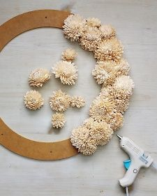 Wood Flower Wreath Tutorial