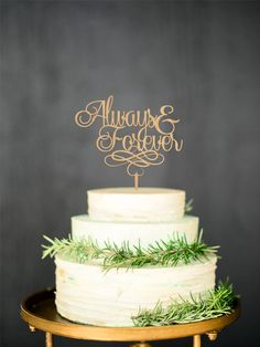 Always & Forever Rustic Cake Topper will bring you an opportunity to personalize your wedding cake and will help to make it unique. Wooden Cake