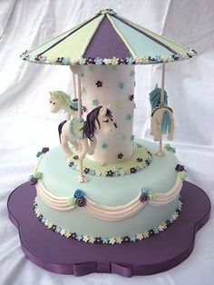 Carousel Cake - Birthday cake for a 2 year old girl. Description from pinterest.com. I searched for this on bing.com/images