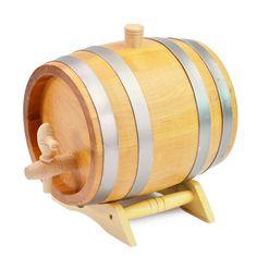 3 Liters Oak Barrel Keg Wood Cask Wooden Tap Pedestal Storage Wine Whiskey    eBay