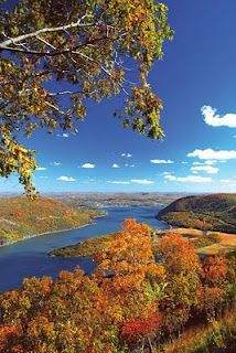 Hudson River Valley in fall. So many childhood memories boating on the river!