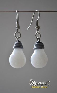 Bulb Earrings by Sisunyak on Etsy, €7.85                                                                                                                                                                                 More