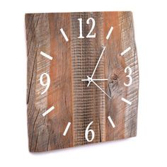 Barn Wood Clock Large Wood Clock Reclaimed BarnWood Wall Clock Unique Wooden Clock Rustic Wall Decor by TheRusticPalette on Etsy https://www.etsy.com/listing/212869663/barn-wood-clock-large-wood-clock