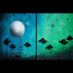 WEEKEND SALE  Original Painting Fantasy Art by BestArtStudios2, $200.00