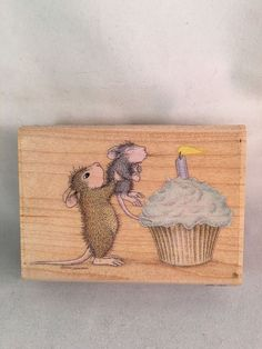 Make A Wish 02 House-Mouse Designs Rubber Stamp Mice Cupcake Birthday New    eBay