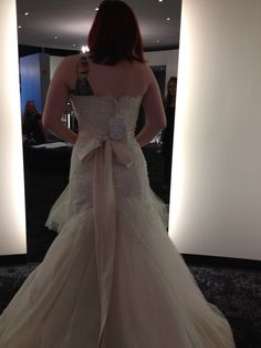 The back side of the dress