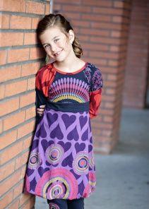 #littleskyefall2012  Desigual Carmona Purple Dress van Desigual kinderkleding