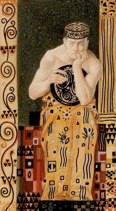 King of Coins - Golden Tarot of Klimt by Atanas Alexander Atanssov