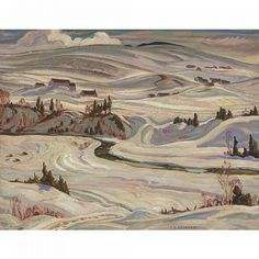 Buy online, view images and see past prices for ALEXANDER YOUNG JACKSON 1882 - Invaluable is the world's largest marketplace for art, antiques, and collectibles. Group Of Seven Artists, Group Of Seven Paintings, Canadian Painters, Canadian Artists, Landscape Art, Landscape Paintings, Tom Thomson Paintings, Most Famous Artists, Winter Painting