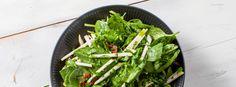 Salat med pærer og spinat