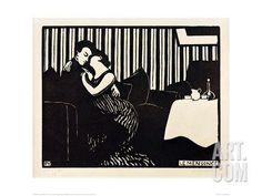 The Lie, 1897 Giclee Print by Félix Vallotton at Art.com