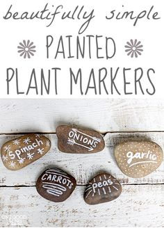 Garden Markers. Simple and cute!